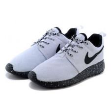 Nike Roshe Run 2015 NEW light grey с черной подошвой
